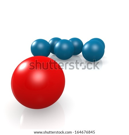 Red leading ball