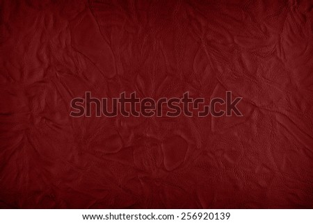 red leather - stock photo