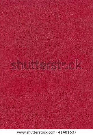 red leather background textured with deep graining patterns - stock photo