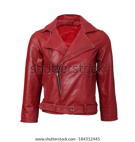 red leather jacket - stock photo