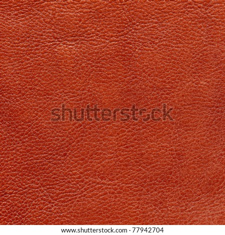 Red leather texture, background - stock photo