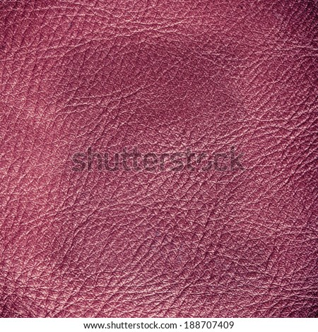 Red leather texture closeup grunge background. Country western background, cowboy rawhide design, abstract pattern. Square format - stock photo