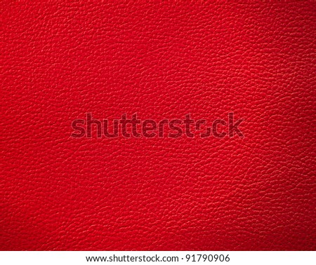 Red leather texture use for background - stock photo