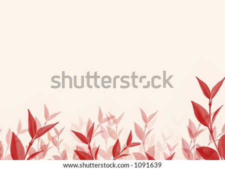 Red leaves. High resolution! - stock photo