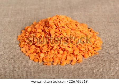 Red Lentils - stock photo