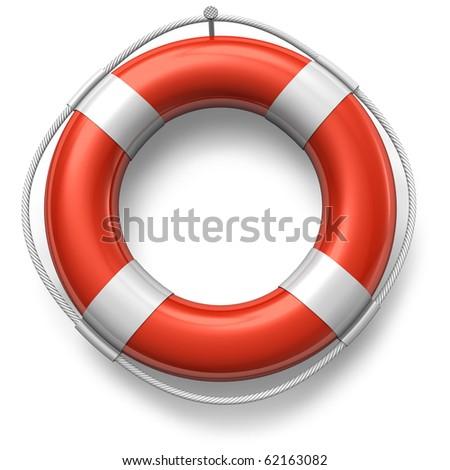 Red lifebelt - stock photo