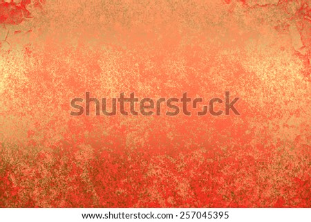 Red light golden abstract   background , with   painted  grunge background texture for  design .