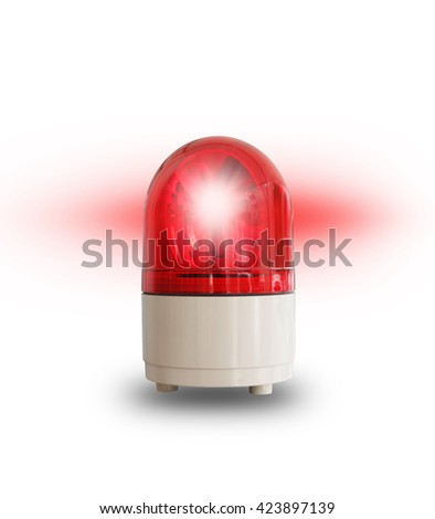 red light isolated on white - stock photo