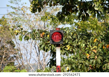 Red light traffic - stock photo