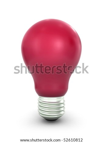 Red lightbulb - stock photo