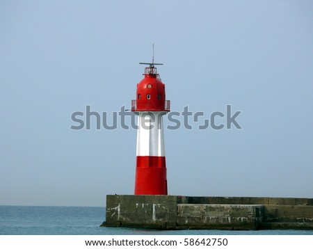 Red lighthouse in Sochi - stock photo