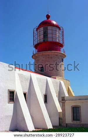 Red lighthouse in the east cap of Europe