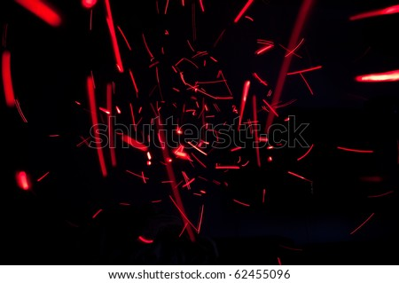 red lights abstract - stock photo