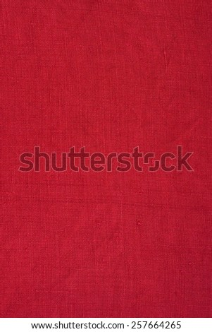 red linen surface