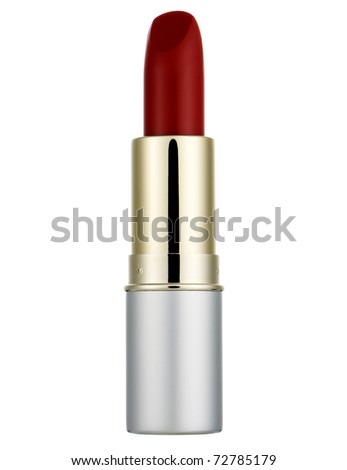 Red lipstick - stock photo