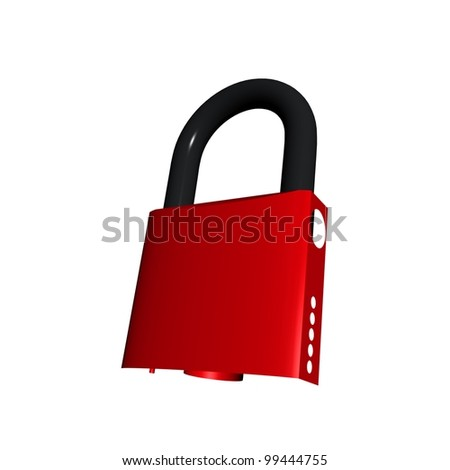 Red lock for doors open and closed state