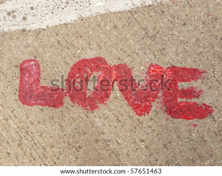 red love letter on the ground