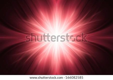 Red luminous rays background - stock photo