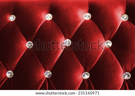 Red luxurious background and texture shot from a sofa - stock photo