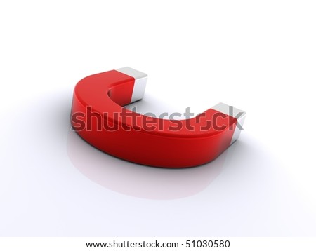 Red Magnet Symbol On White Background Stock Illustration 51030580 ...