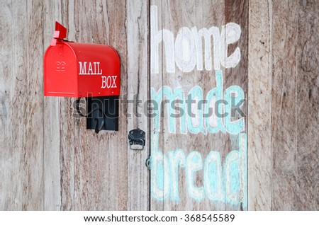 red mail box.