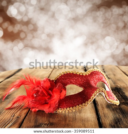 red mask  - stock photo