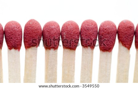 red matches - stock photo
