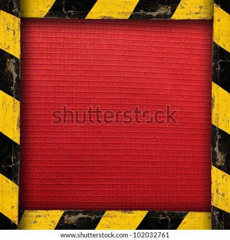 Red Material With Belt Warning