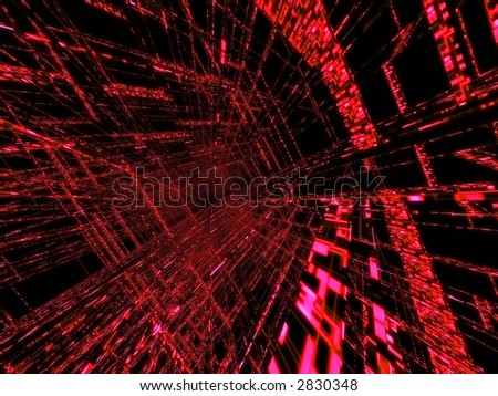 red matrix - stock photo