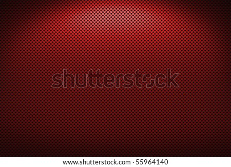 Red metal grate texture with lighting effect - stock photo