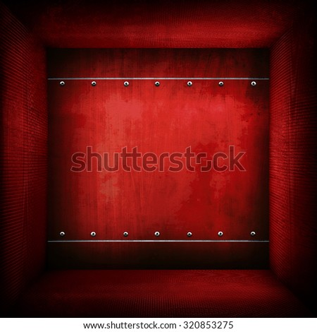 red metal interior background  - stock photo