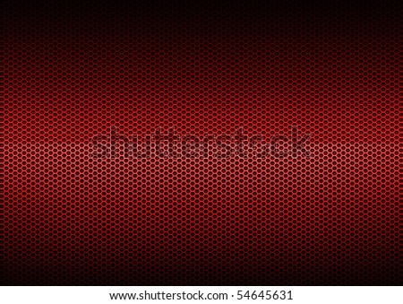Red Metal Plating, background - stock photo