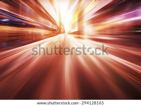 red motion blur background - stock photo