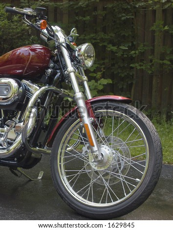 Red Motorcycle - stock photo