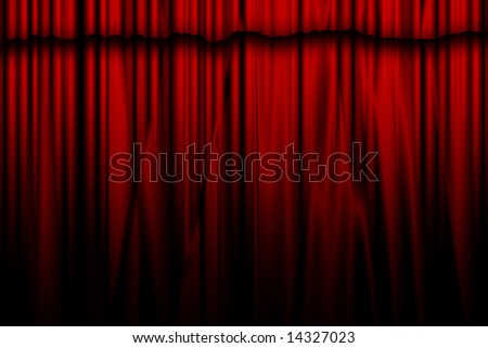 Red movie or theater curtain
