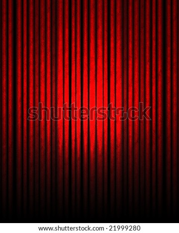 red movie or theater curtain with some smooth lines in it