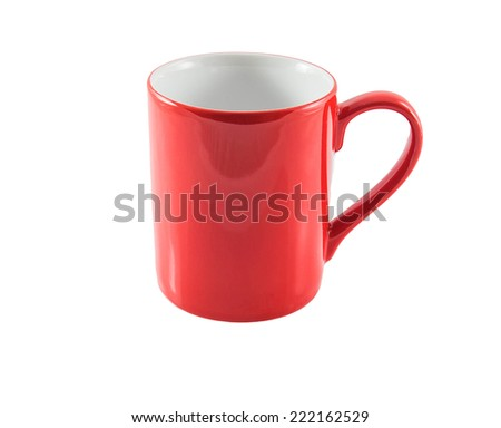 Red Mug isolated on a white background