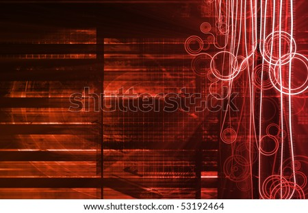 Red Nanotechnology as a Medical Science Concept - stock photo