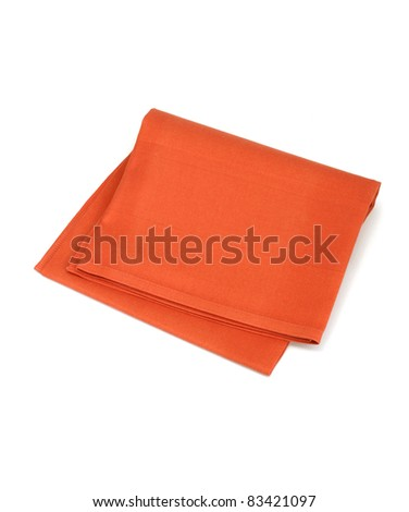 red napkin isolated on white background