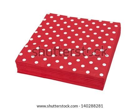 Red napkins - stock photo