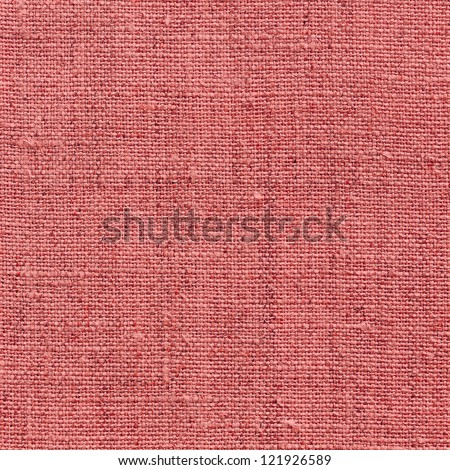 red natural linen texture for background - stock photo
