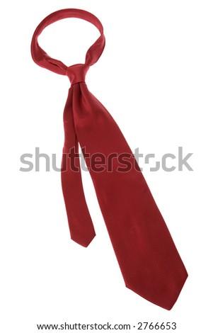 Red Neck Tie - stock photo