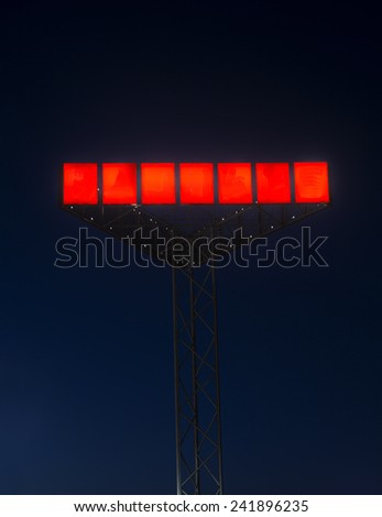 Red Neon Sign at night - stock photo