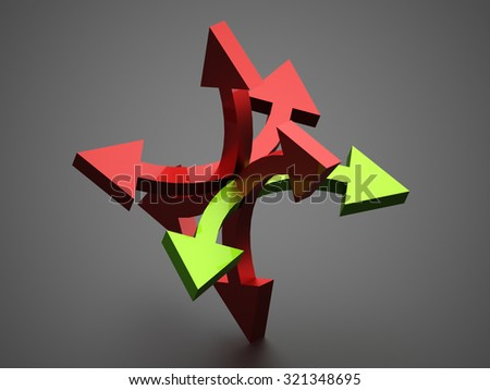 Red north direction compass icon on white background  - stock photo