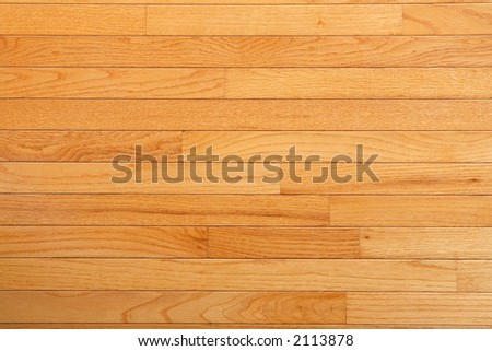 Red Oak flooring with factory finish (topaz color) large field view - stock photo