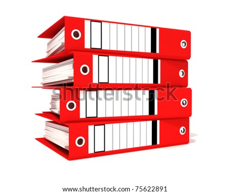 red office binders