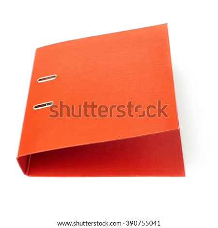 Red Office folder isolated over the white background - stock photo