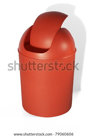 Red office trashcan - stock photo