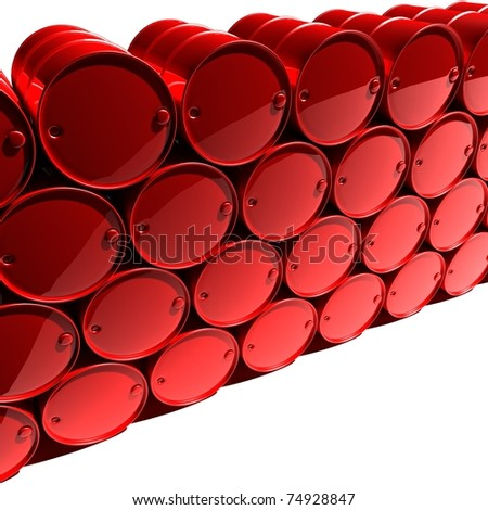 red oil barrels - stock photo