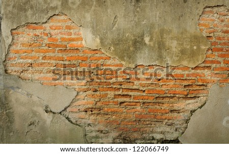 Red Old brick wall background